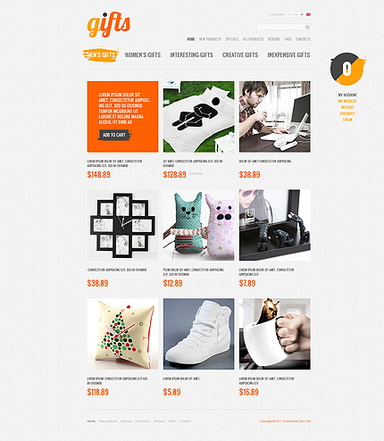 ZenCart Template 35357 Main Page Screenshot