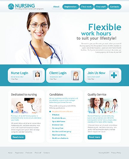 ADOBE Photoshop Template 35369 Home Page Screenshot