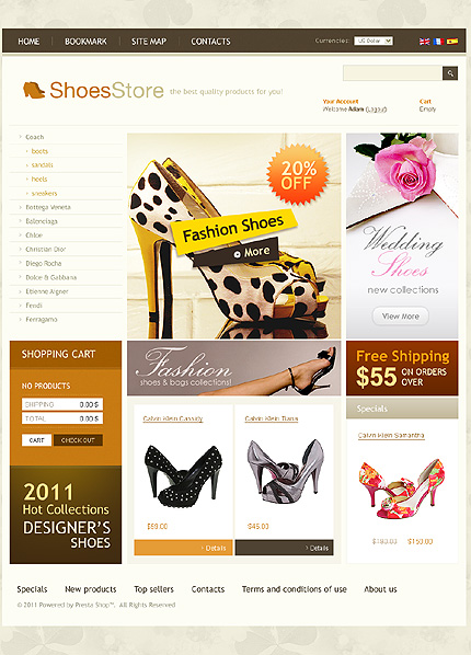 ADOBE Photoshop Template 35377 Home Page Screenshot
