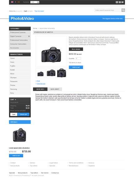 ADOBE Photoshop Template 35389 Home Page Screenshot