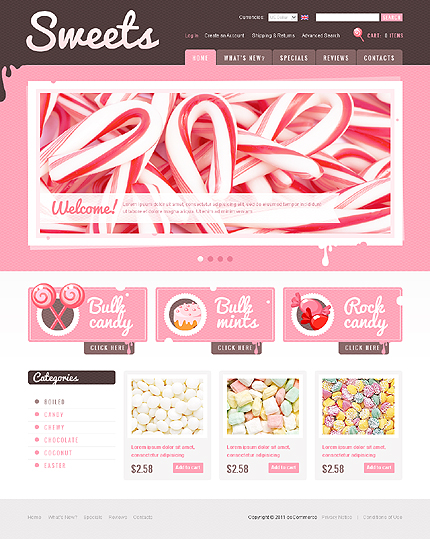 osCommerce Template 35397 Main Page Screenshot