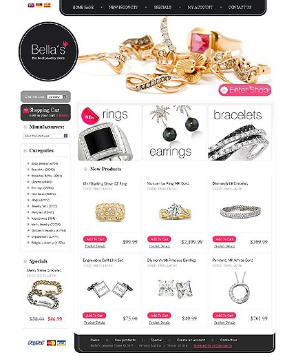 osCommerce Template 35400 Main Page Screenshot