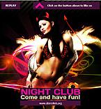 Night Club Facebook  Template 35427