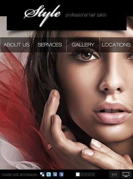 ADOBE Photoshop Template 35450 Home Page Screenshot