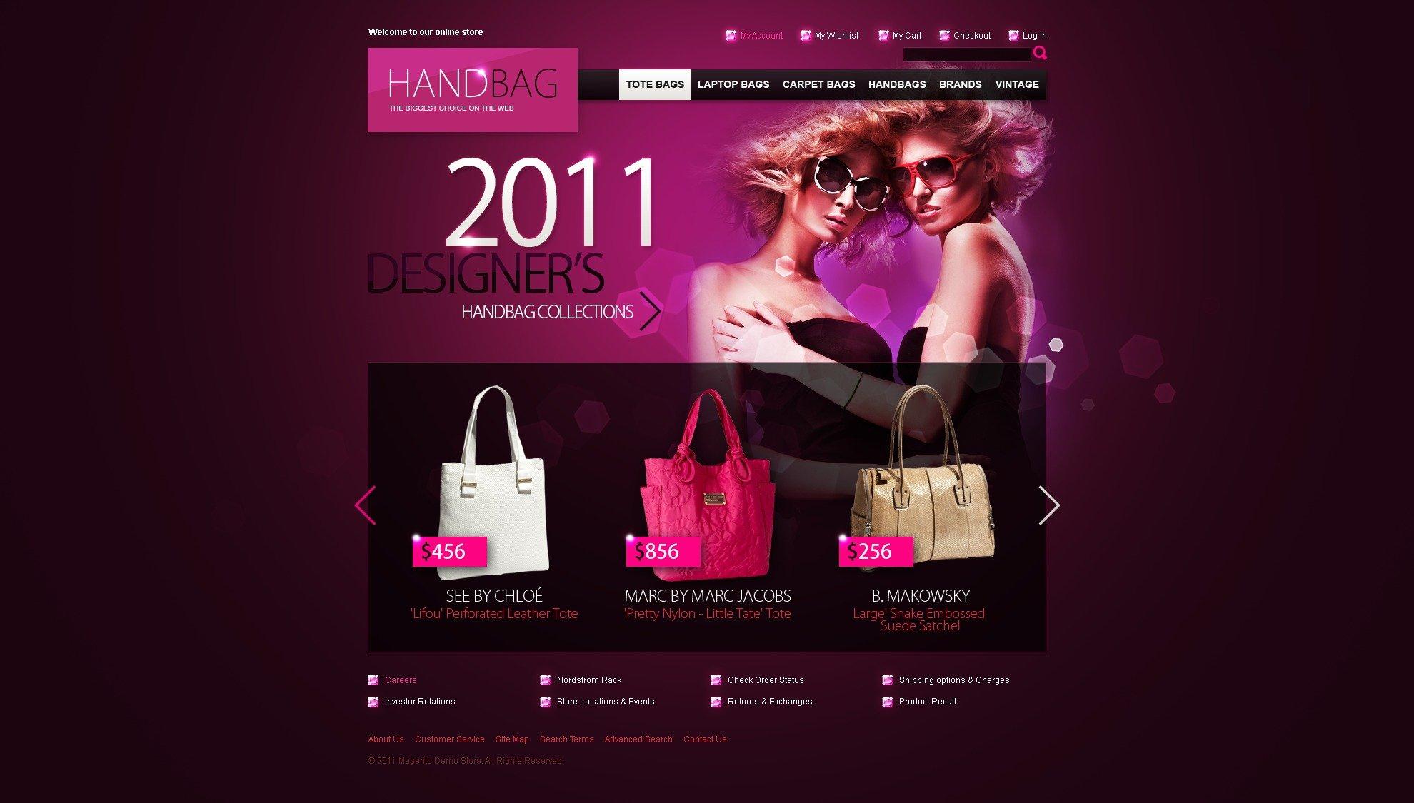 Handbag Magento Theme - screenshot