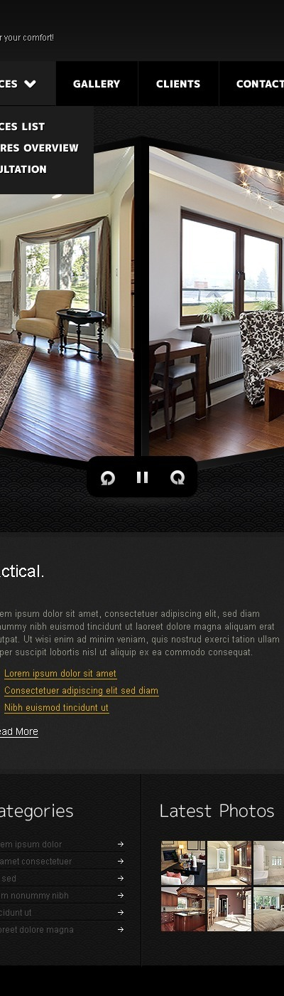 Interior Design Drupal Template