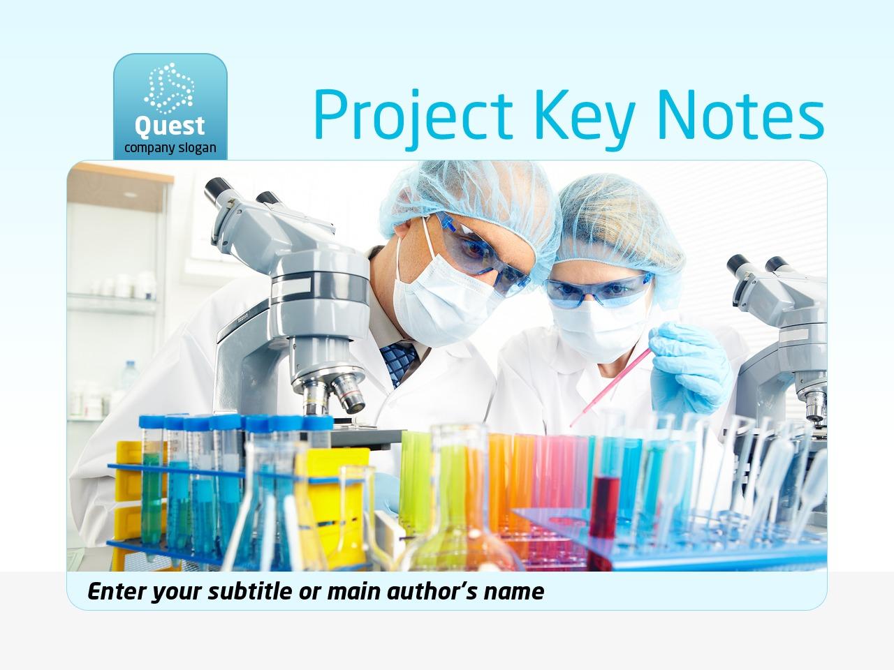 Modello PowerPoint #35489 per Un Sito di Scienza