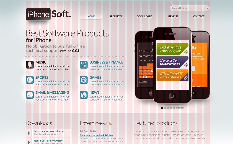 PSD Template over Software  New Screenshots BIG