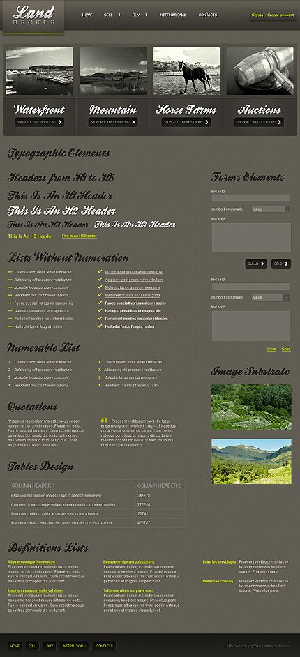 ADOBE Photoshop Template 35506 Home Page Screenshot