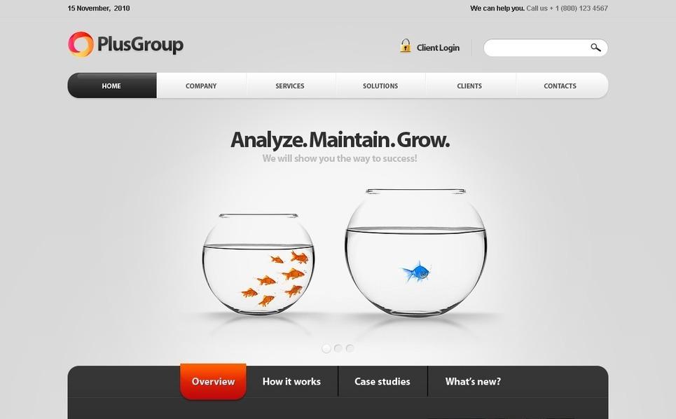 Drupal шаблон на тему бізнес та послуги New Screenshots BIG