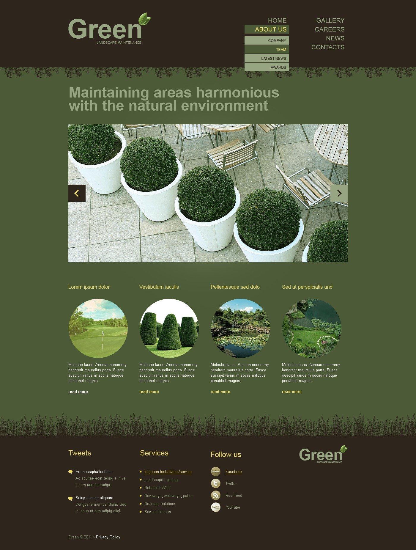 Landscape Design Website Template #35561