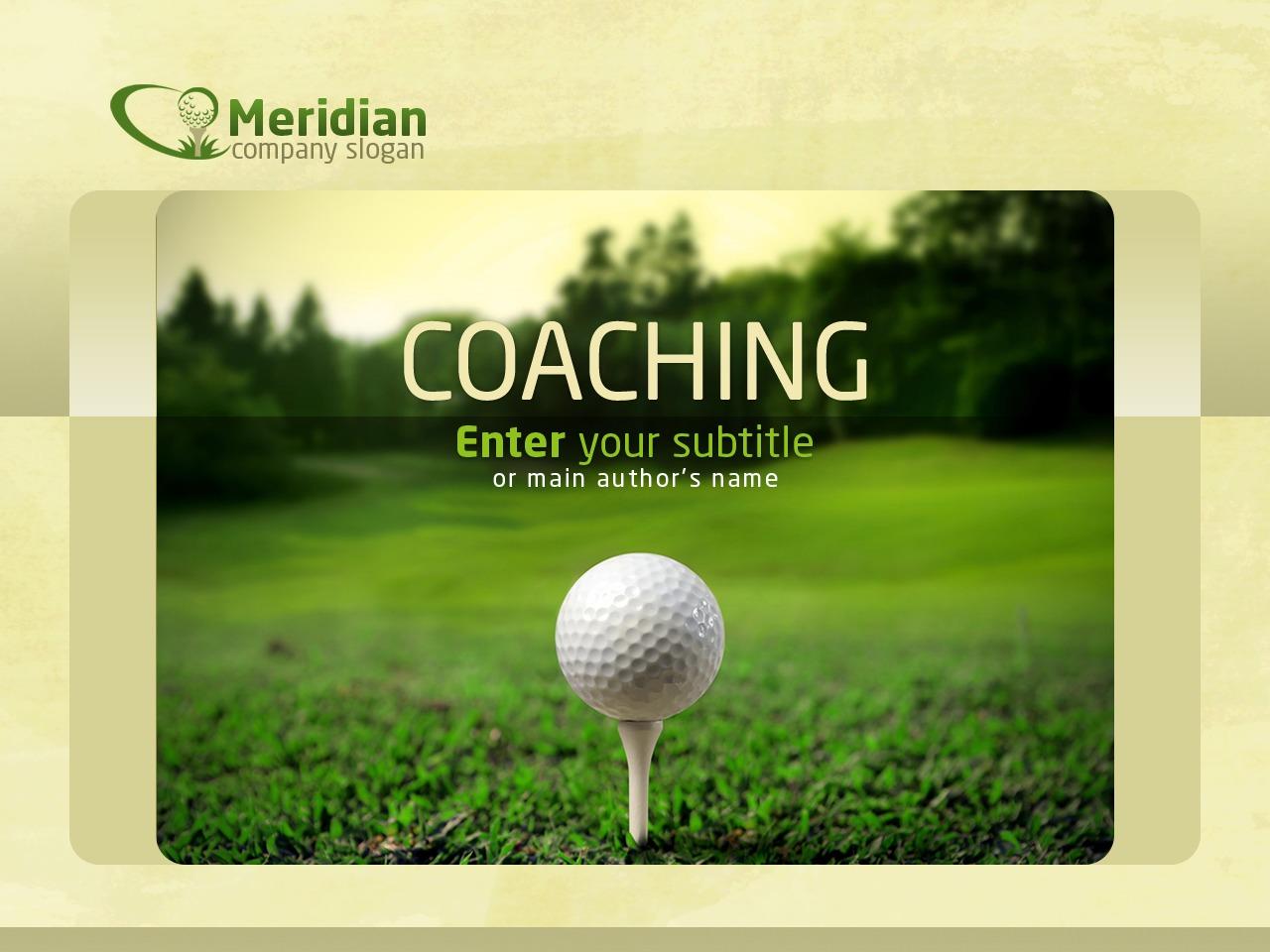 Szablon PowerPoint #35578 na temat: golf