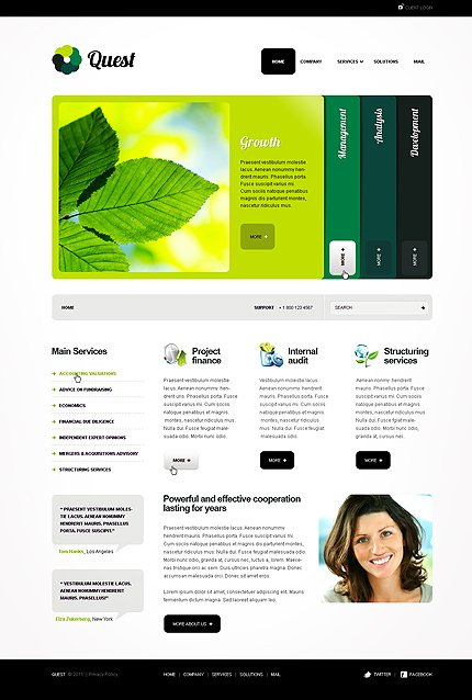 ADOBE Photoshop Template 35603 Home Page Screenshot