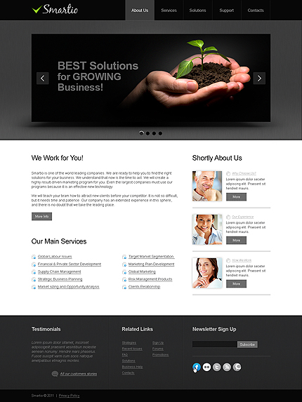 ADOBE Photoshop Template 35604 Home Page Screenshot