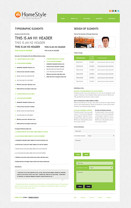 ADOBE Photoshop Template 35605 Home Page Screenshot