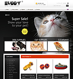 Animals & Pets osCommerce  Template 35645