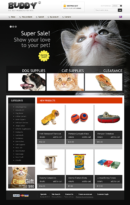 osCommerce Template 35645 Main Page Screenshot