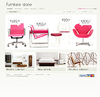 Furniture osCommerce  Template 35648