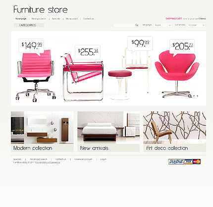 osCommerce Template 35648 Main Page Screenshot