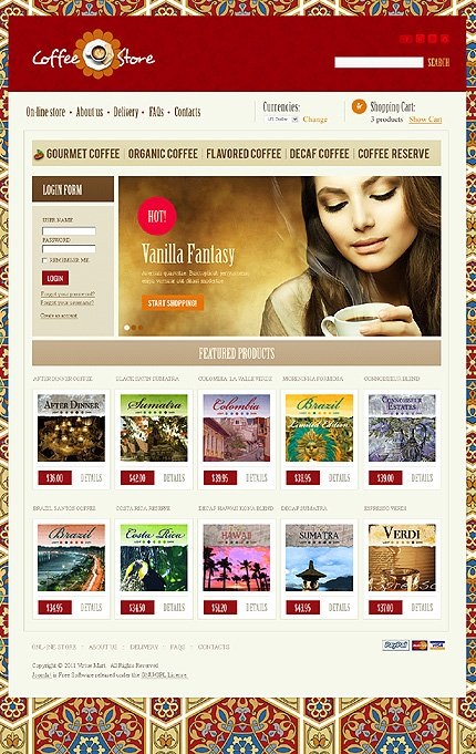 ADOBE Photoshop Template 35690 Home Page Screenshot