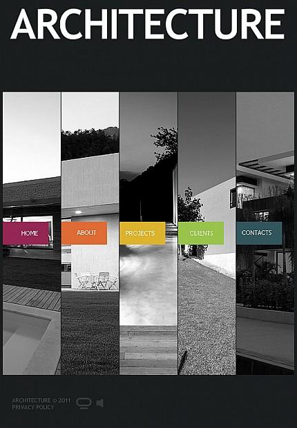 architecture facebook flash cms template  35630
