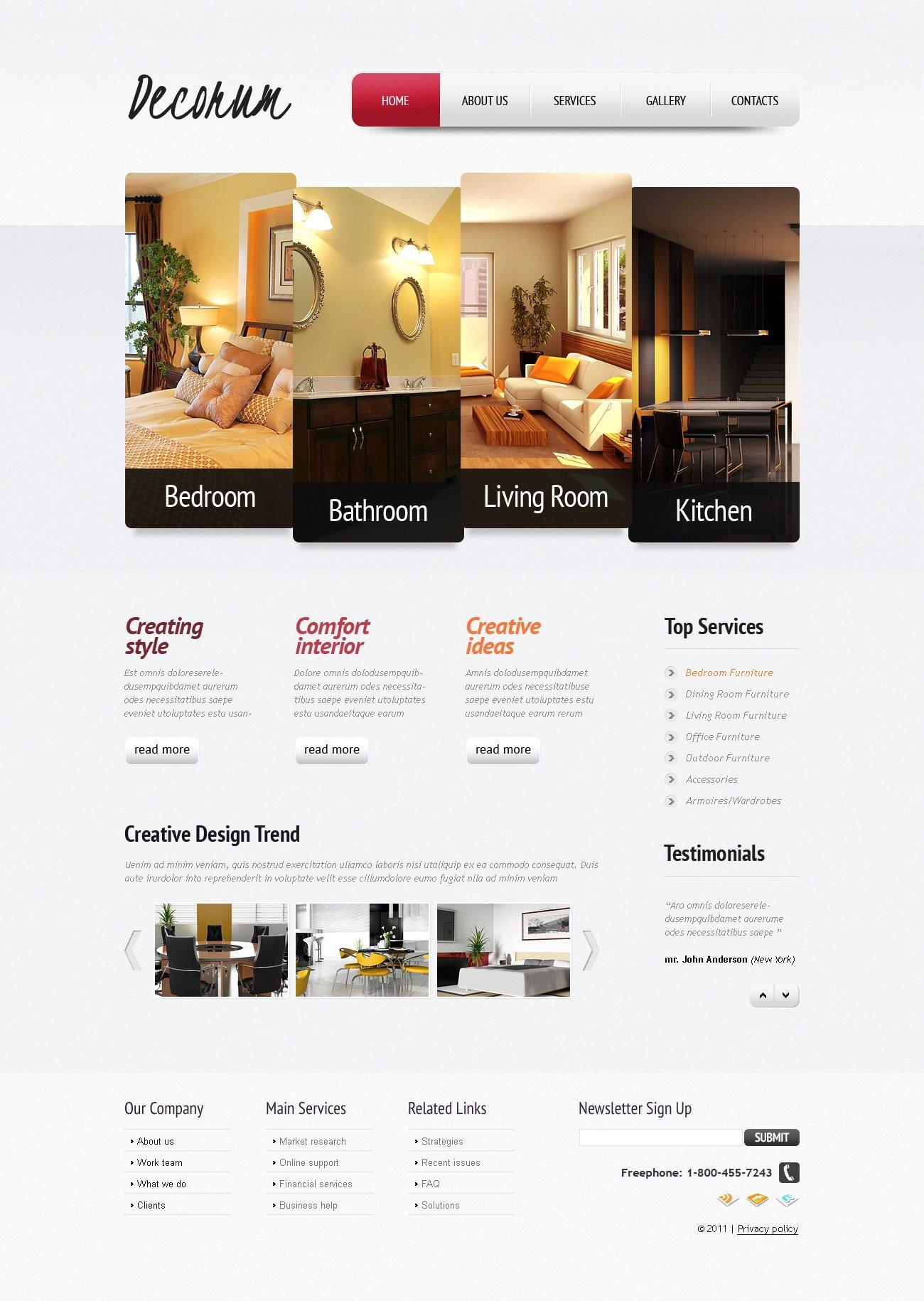 template siti web 35614 per un sito di design di interni