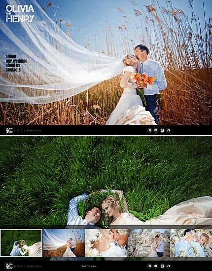Szablon Galerii Zdjęć #35719 na temat: album ślubny MotoCMS
