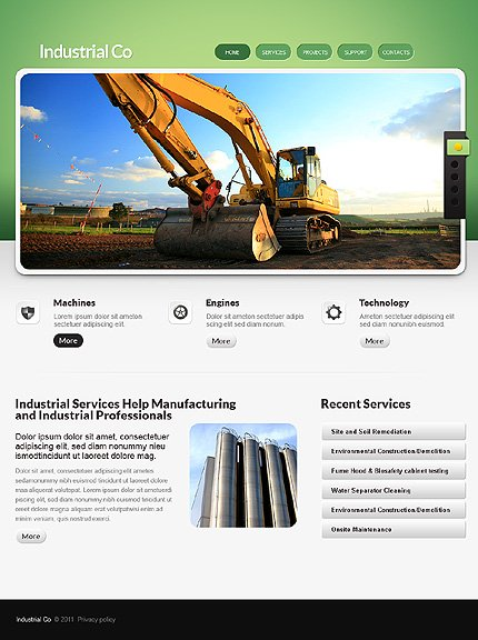 ADOBE Photoshop Template 35730 Home Page Screenshot