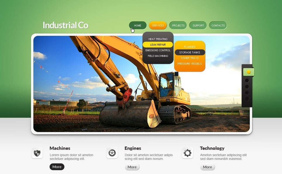 Endüstriyel  Psd Şablon New Screenshots BIG