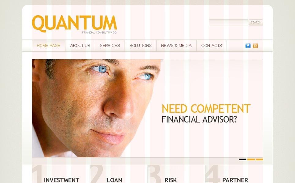 Plantilla PSD #35731 para Sitio de Asesor financiero New Screenshots BIG