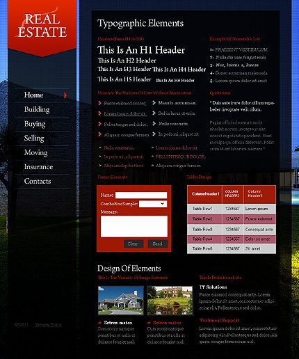 ADOBE Photoshop Template 35733 Home Page Screenshot