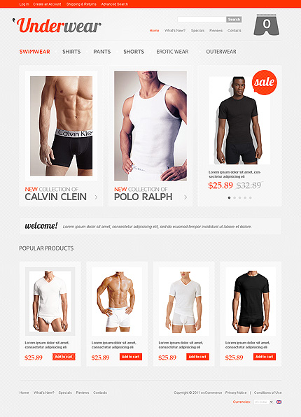 osCommerce Template 35752 Main Page Screenshot