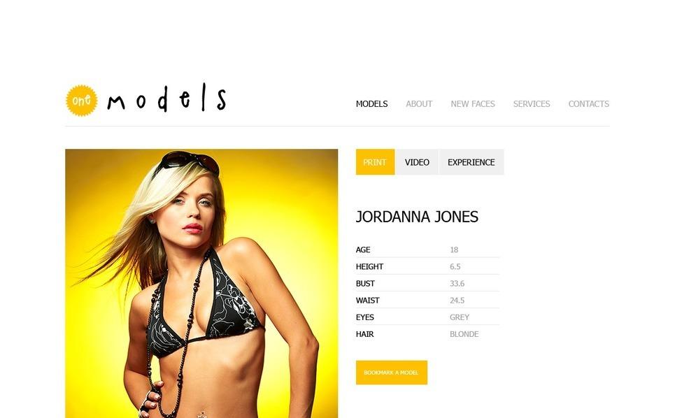 Flash CMS šablona Modelingová agentura New Screenshots BIG