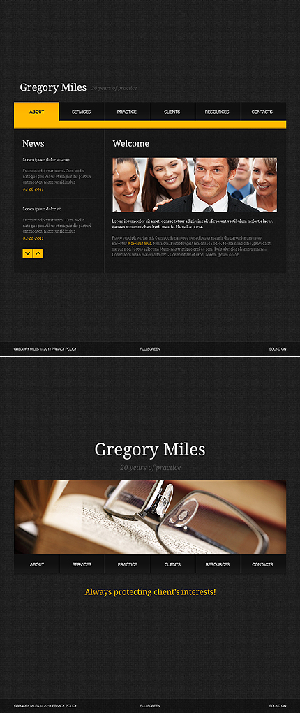 ADOBE Photoshop Template 35777 Home Page Screenshot