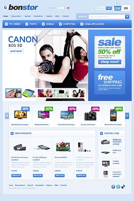 ZenCart Template 35783 Main Page Screenshot