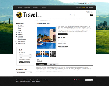 ADOBE Photoshop Template 35788 Home Page Screenshot