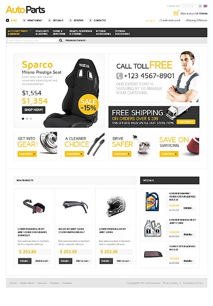 osCommerce Template 35790 Main Page Screenshot