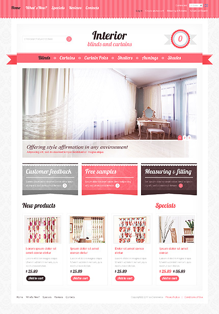 osCommerce Template 35791 Main Page Screenshot