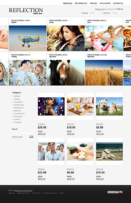 osCommerce Template 35793 Main Page Screenshot