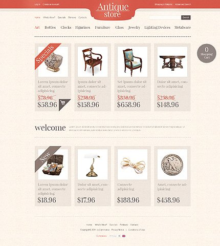 osCommerce Template 35794 Main Page Screenshot