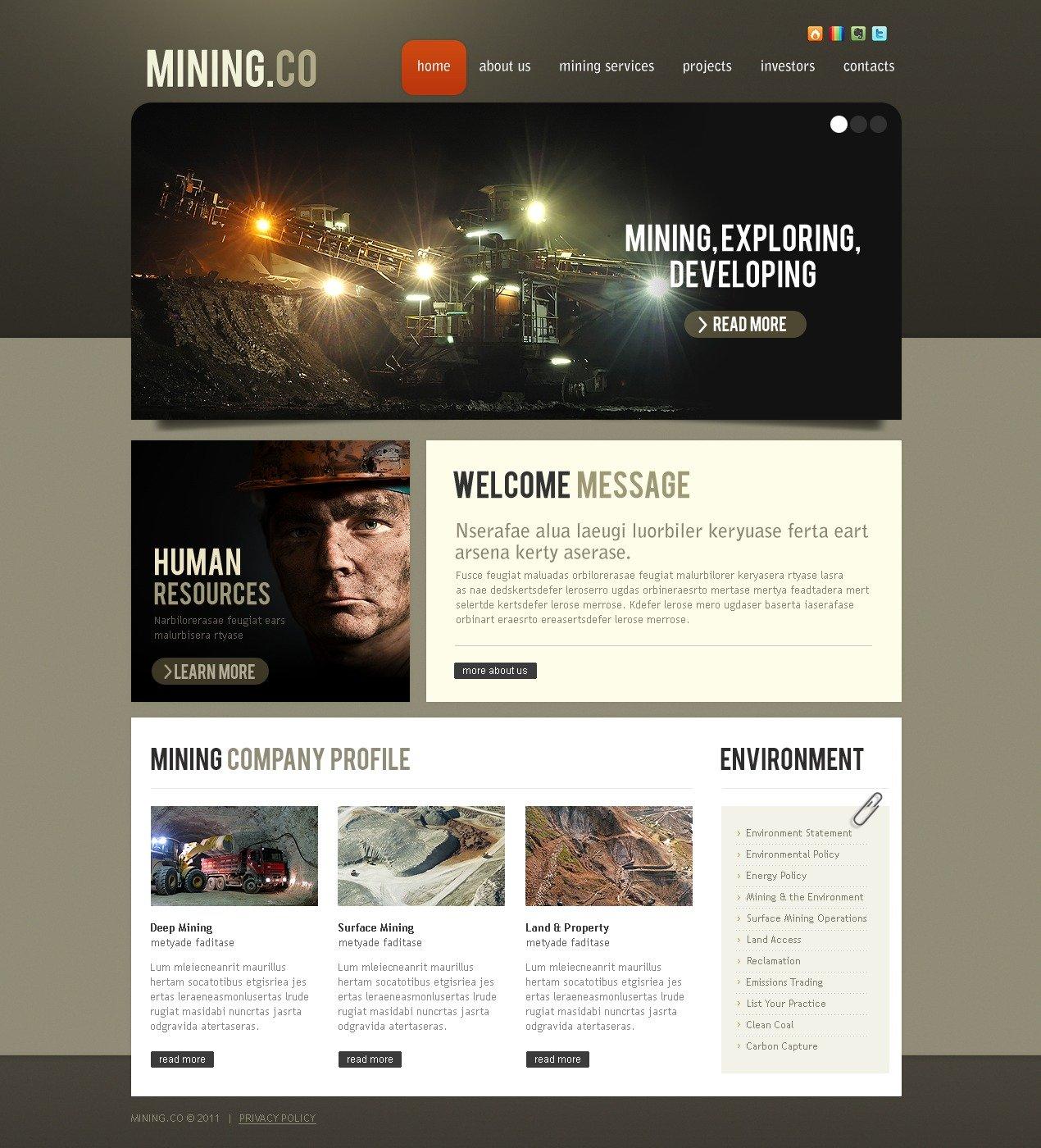 Mining Company PSD Template