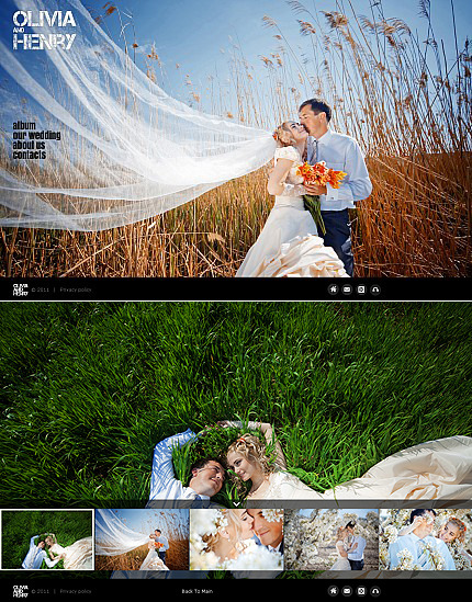 Wedding Album Photo Gallery Template MotoCMS