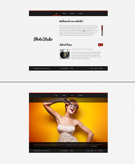 ADOBE Photoshop Template 35844 Home Page Screenshot