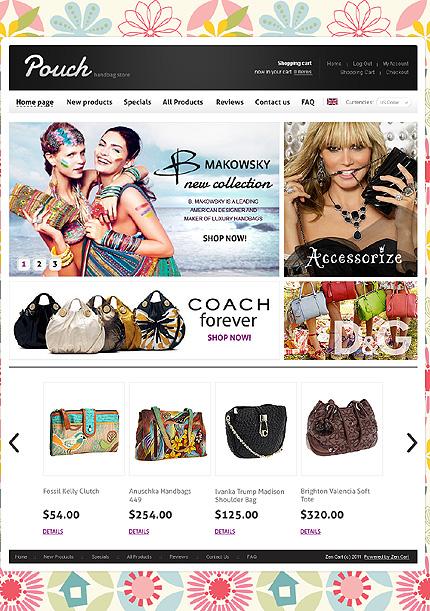 ZenCart Template 35884 Main Page Screenshot