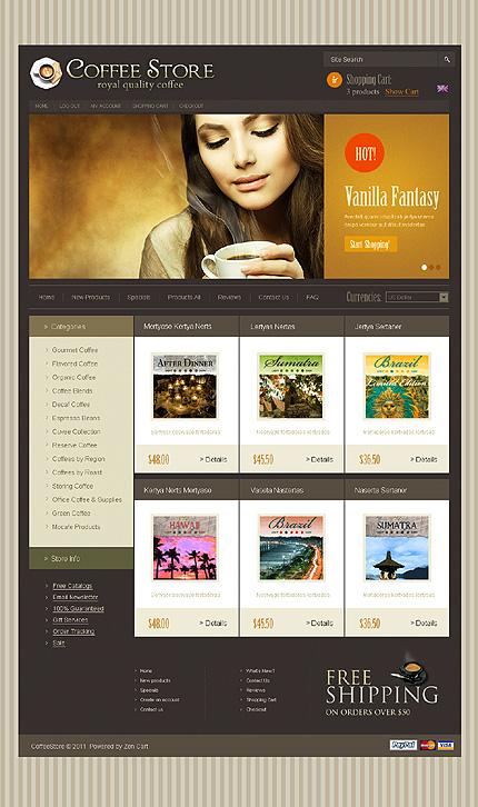 ZenCart Template 35886 Main Page Screenshot