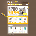 Animals & Pets osCommerce  Template 35889