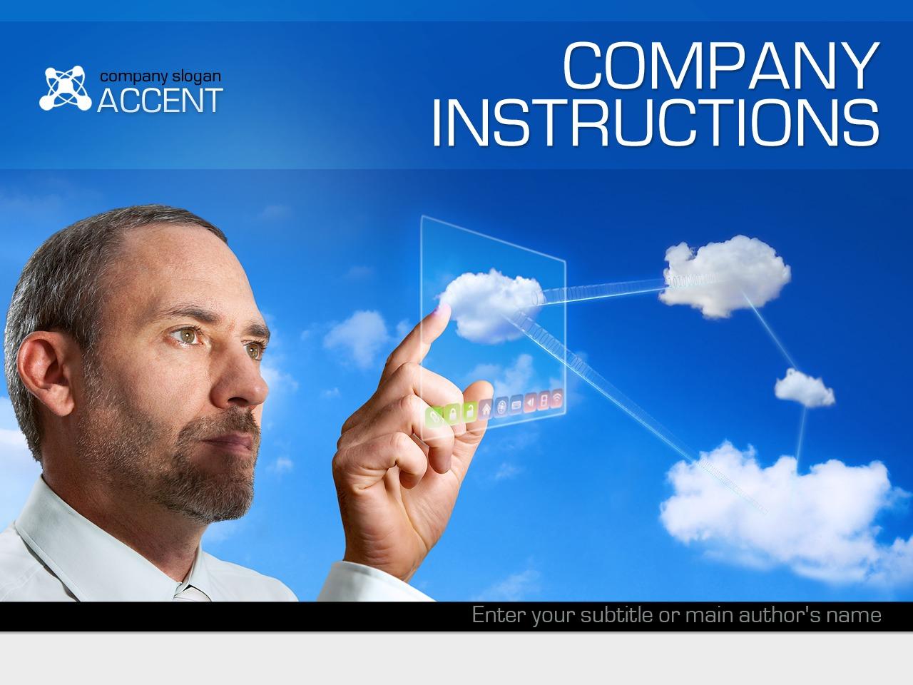 PowerPoint Vorlage für Business und Dienstleistungen #35816 - Screenshot