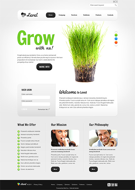 ADOBE Photoshop Template 35911 Home Page Screenshot