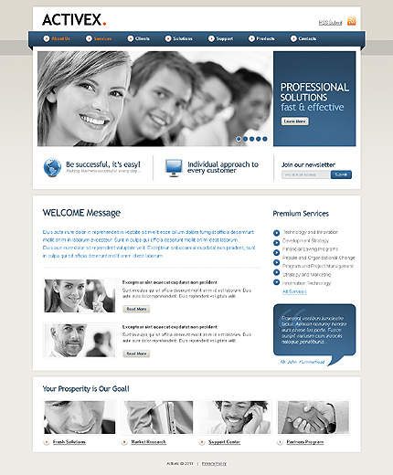 ADOBE Photoshop Template 35928 Home Page Screenshot