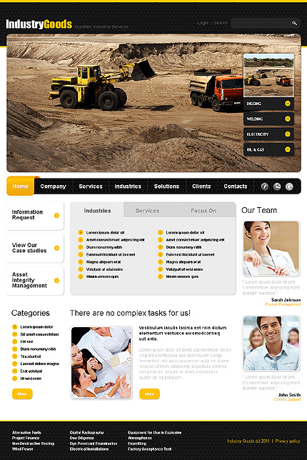 ADOBE Photoshop Template 35929 Home Page Screenshot